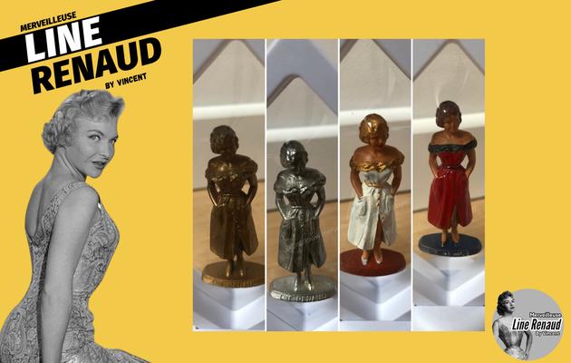 OBJETS:  4 Figurines Mokalux de Line Renaud datent entre  1956 et 1957