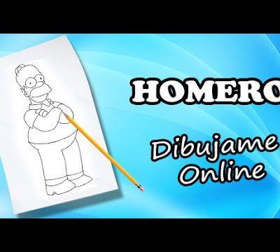 como dibujar a homero