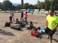 Le nouveau point de départ de l'entrainement du samedi, à savoir le parc Paul Mistral,  semble convenir aux petits comme aux grands... Quelques images de l'entrainement d'hier.