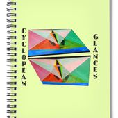 Cyclopean Glances Matriarch Spiral Notebook for Sale by Michael Bellon