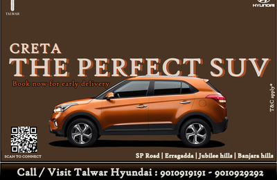 Hyundai Creta now available for early delivery at Talwar Hyundai.
