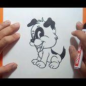 Como dibujar un perro paso a paso 46   How to draw a dog 46