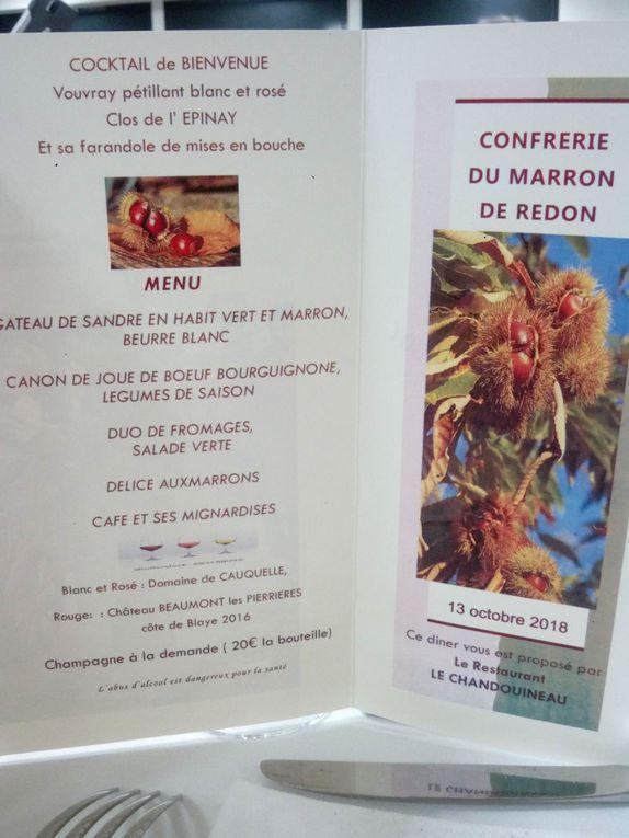 Chapitre du Marron de Redon samedi 13 octobre 2018. Photos et texte de Sylvain Jacquet.