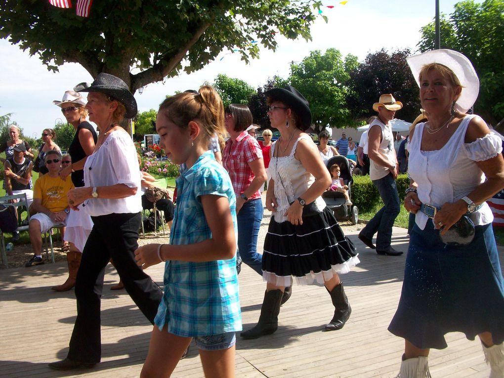 Belle journée Western a bellegarde, organisé par le comité des fêtes, animé par Fred & Pat des Friends of Country