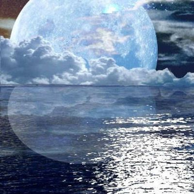 Paysage - Nuit - Lune - Reflet - Picture - Free