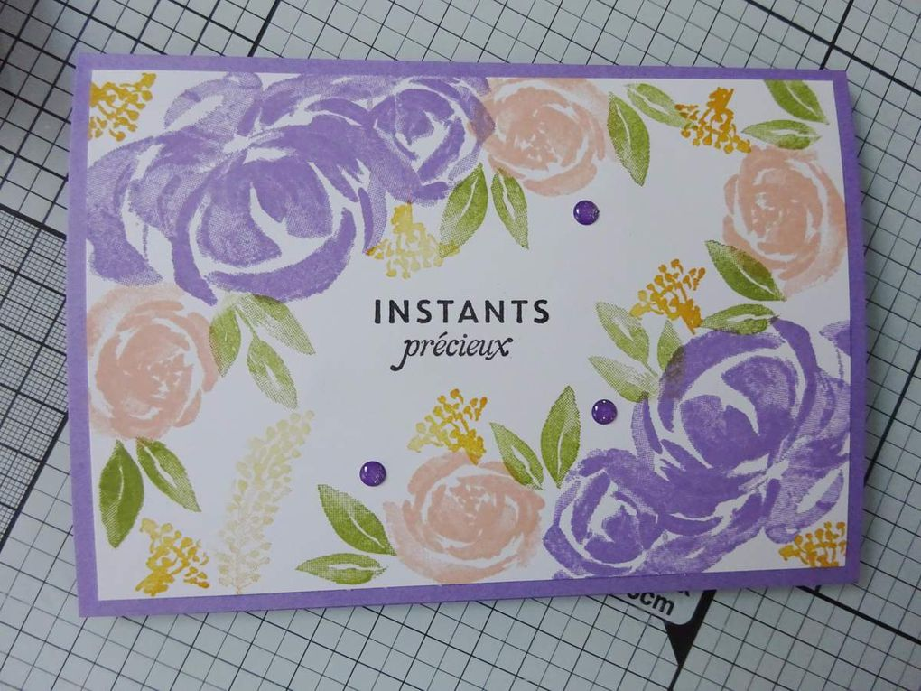 [Stampin'Up!®] Beautiful Friendship ou comment réaliser un fond de carte floral