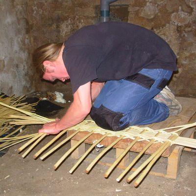 Réalisation d'un bouclier gaulois en osier... (tutoriel)