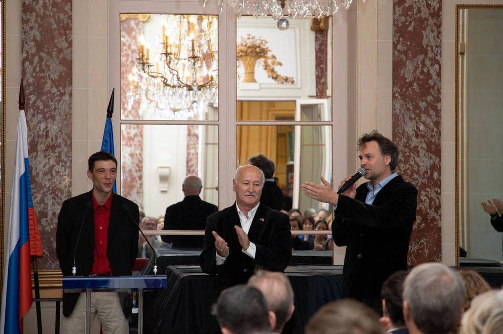 """Le président national de l'UGF invité d'honneur à l'inauguration de l'exposition """"Stalingrad dans le destin de la France"""" au centre de Russie pour la science et la culture à Paris."""