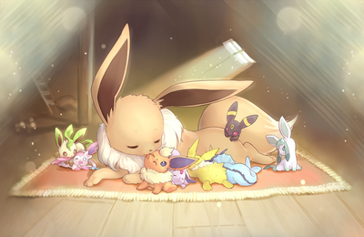 Pokémons - Eevee - Anime - Cute - Wallpaper - Free