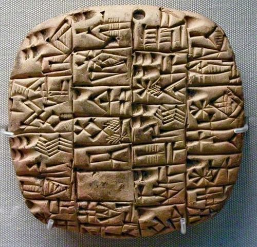 Tablettes cunéiformes de l'Empire assyrien et hiéroglyphes