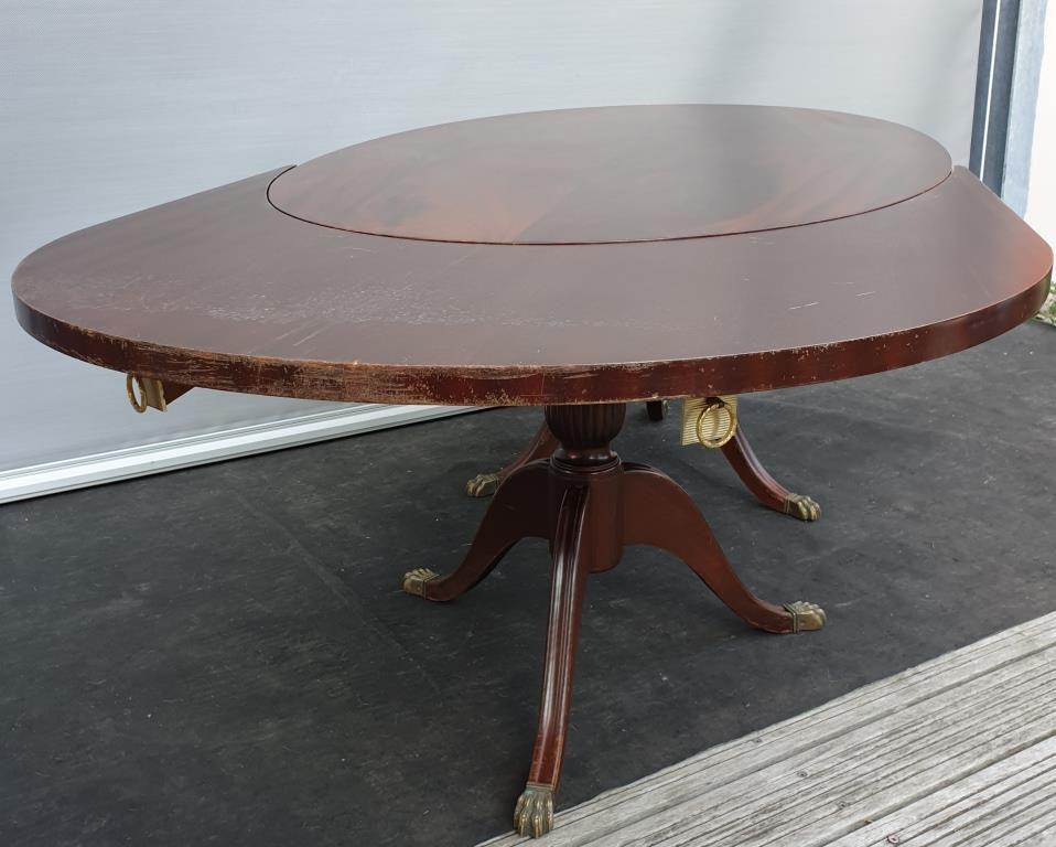 TABLE ANGLAISE REGENCY OVALE EXTENSIBLE EN ACAJOU - 220 euros