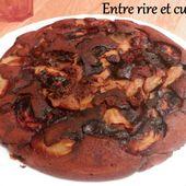 Gâteau à la poêle Pommes chocolat