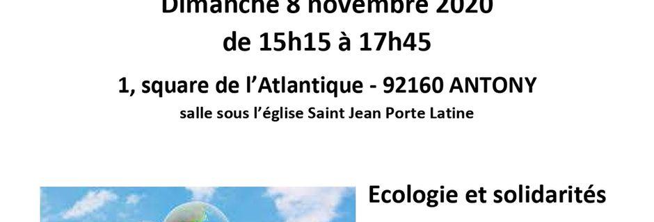 SERIC 2020, 8 novembre, 92160, Antony : Ecologie et solidarités, partage convivial et intergénérationnel à Antony