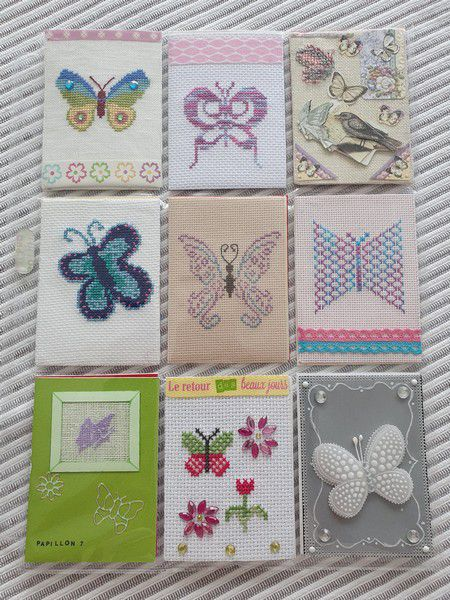 POCHETTE COLLECTION ATC PAPILLONS (3)
