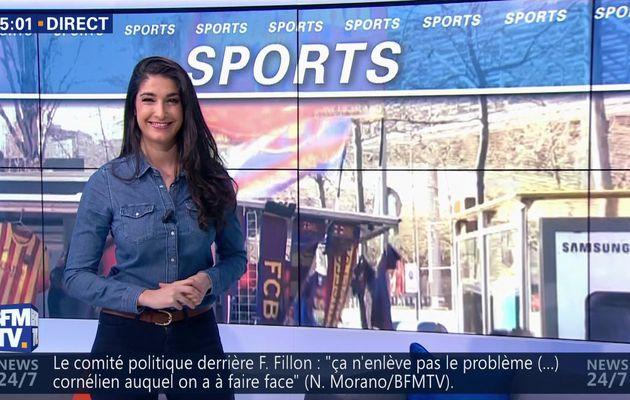 📸9 LESLY BOITRELLE @LeslyBoitrelle 😍 ce matin pour LES SPORTS dans PREMIERE EDITION @BFMTV #vuesalatele