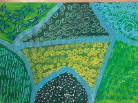 3. Graphismes décoratifs réalisés aux crayons Posca.