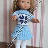 tuto gratuit poupée: robe jacquard - Chez Laramicelle