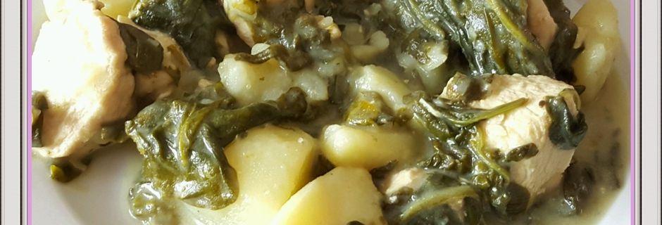 Émincé de poulet et épinards à la crème (Cookeo)