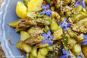 Salade de Pommes de Terre et d'Asperges Vertes, vinaigrette à l'Huile de Sésame