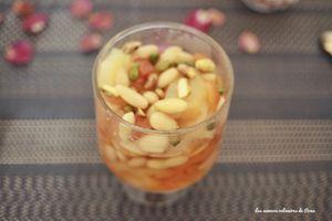 Confiture ananas, abricot sec et amandes
