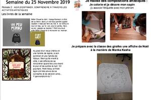 Cahier d'explorateur de la semaine 11 dans les classes de Sylvie H et Karine T
