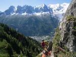 Escalade face au Mont Blanc