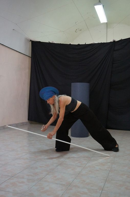 Corps et graphies, 2018, performance de Madeleine Doré