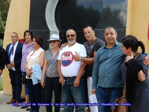Commémoration des harkis du 12 mai 2018, au Mémorial de Jouques (13) Photos