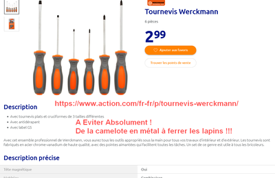 Selection Achat Magasin Action - Outils