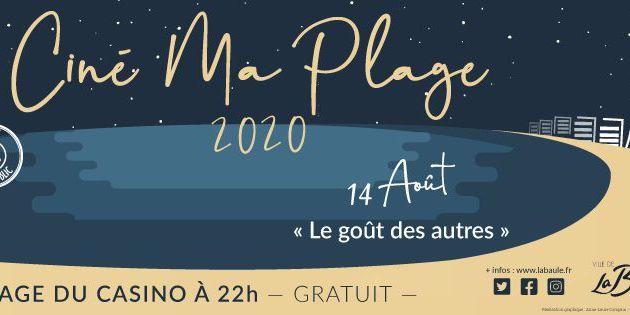 La Baule - Cinéma Ma Plage avec Le Goût des autres - 14 aout 2020