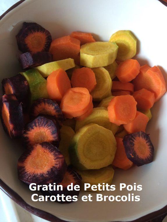 Gratin de Petits Pois Carottes et Brocolis (anti-gaspi)