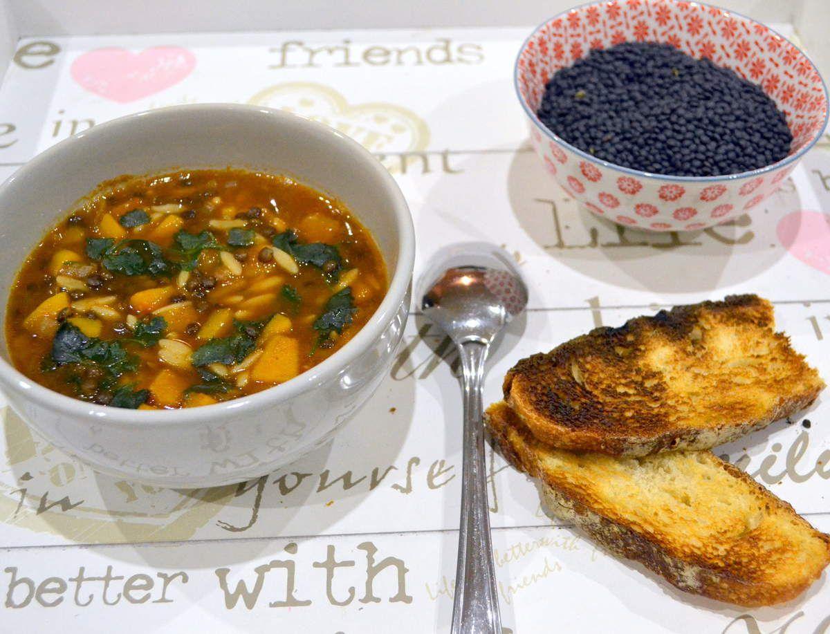 Soupe Butternut-beluga-pâtes