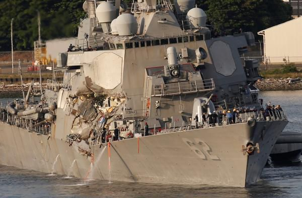 Le bilan de la collision entre un destroyer américain et un cargo philippin s'établit à 7 morts