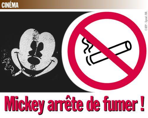 Mickey arrête de fumer !