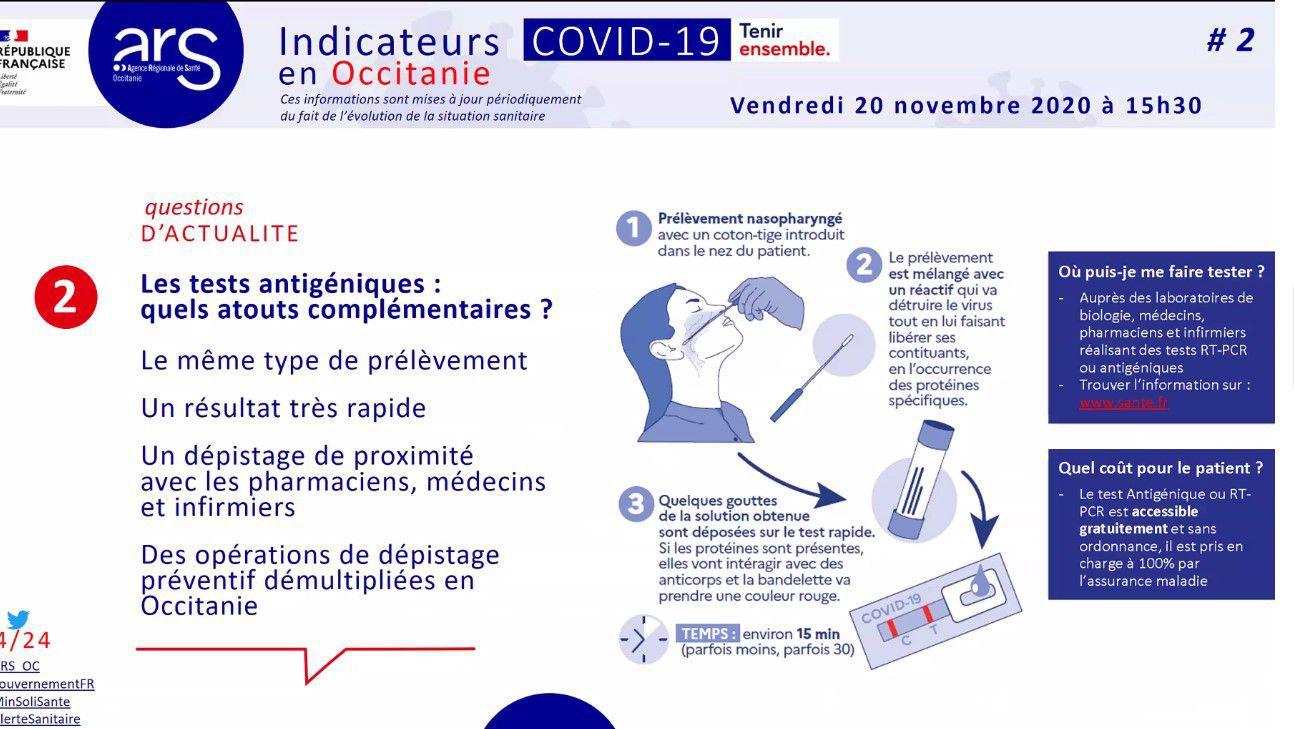 Tests et dépistage: les infos de l'Agence Régionale de Santé Occitanie