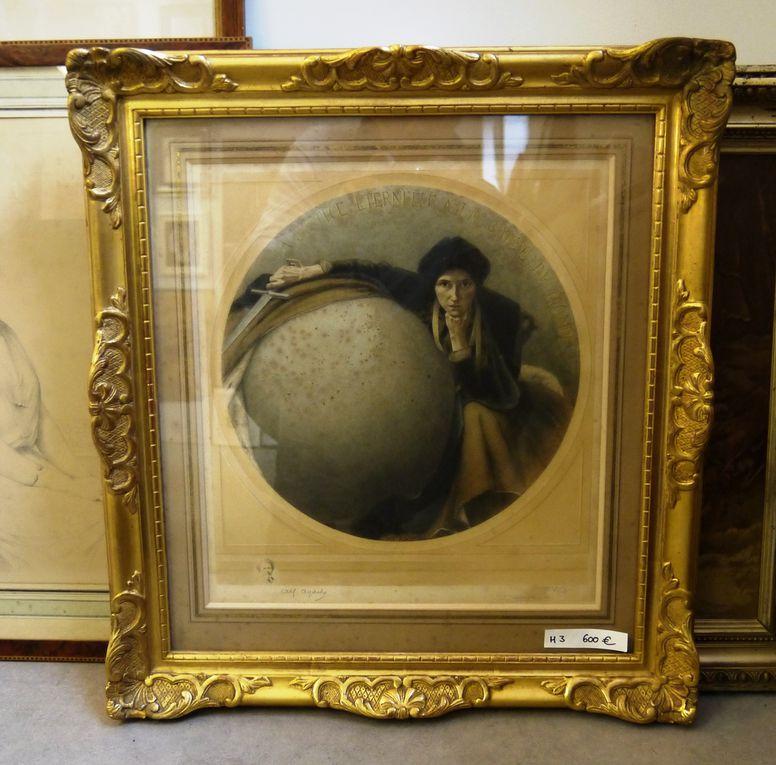 Voici quelques unes des 200 œuvres disponibles à la galerie de l'Atelier d'Encadrement de Bailleul dans le cadre de l'Art'TROC.