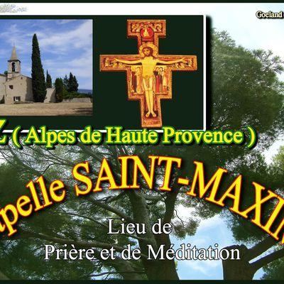 CHAPELLE SAINT MAXIME - RIEZ ( Alpes de Haute Provence ) - communauté des Clarisses - fraternité Sainte Claire