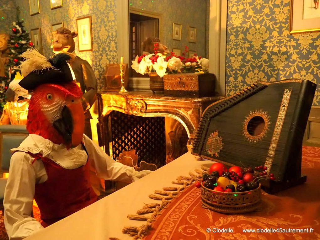 PHOTOS DU CHÂTEAU DE MEUNG SUR LOIRE à l'instant magique où les animaux fêtent NOËL