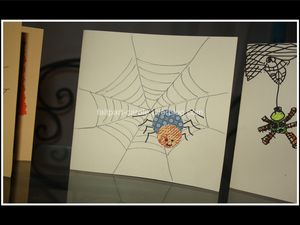 carte Halloween araignée