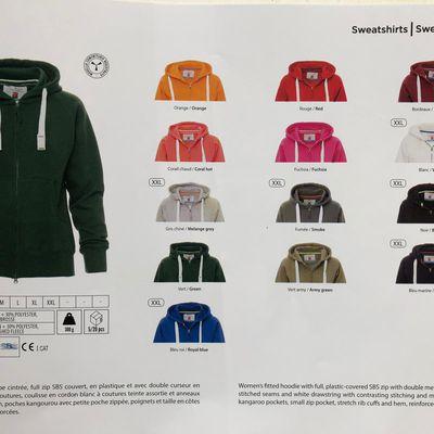 Commande de Tee-shirts ,polos et sweatshirts avec logo du club