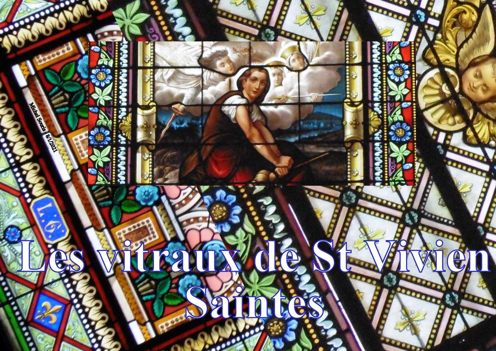 8 - Vitraux de St Vivien à Saintes.... Recueillement et partage de couleurs lumineuses