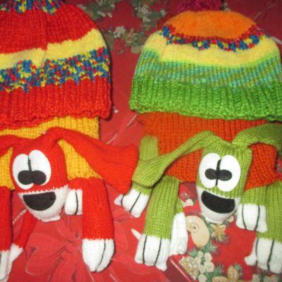 Echarpes et bonnets rigolos pour l'hiver