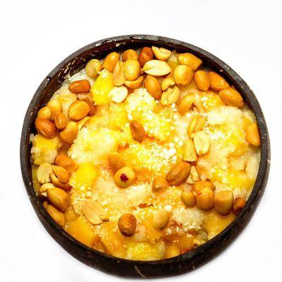 Gari à la mangue + arachide de GATOPIO