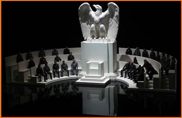 Acte I premier Tableau : les conspirateurs parmi les membres du parlement.