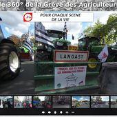 La révolte des Agriculteurs au format panoramique 360° interactif - Ecoutez regardez revivez grâce à B'360 - OOKAWA Corp.