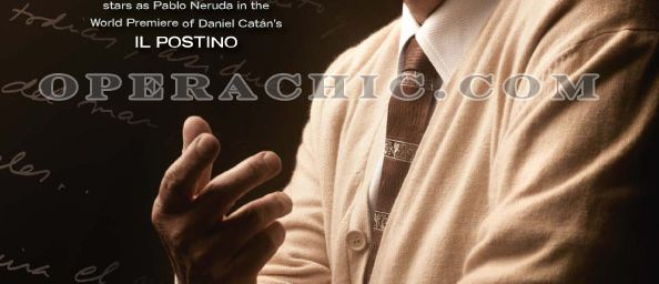 Placido Domingo interprete Pablo Neruda à l'Opéra - First Look: Placido Domingo as Pablo Neruda for The Los Angeles Opera