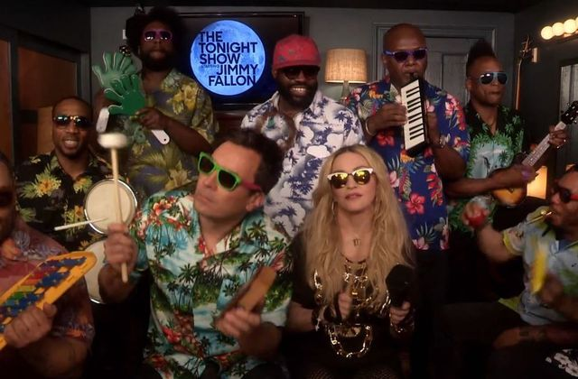 Madonna, Jimmy Fallon & The Roots reprennent Holiday.