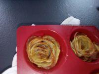 Roses de pommes de terre au jambon cru