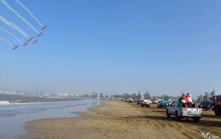 equipage 129 Anne Sophie et Perrine sur la plage de essaouira rallye aicha des gazelles3