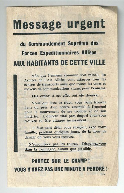 """JOUR """"J"""" PLUS QUATRE. BOMBARDEMENT DE DREUX 10/11 JUIN 1944."""